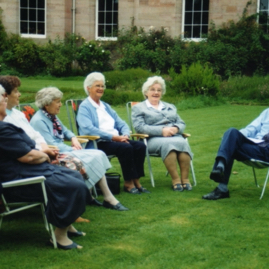 DH interviewing former WLA members at Saltoun Hall.jpg