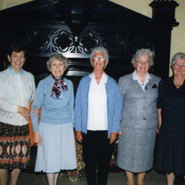 Former Land Girls revisiting their quarters in Saltoun Hall.jpg