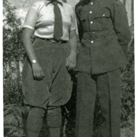 Land Girl who worked in the Bass Rock farm dairy and her ATC brother from N. Berwick.jpg
