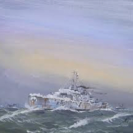 HMS Bluebell, corvette, in northern waters.jpeg