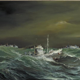 HMT Northern Pride? in heavy seas, painting.jpg