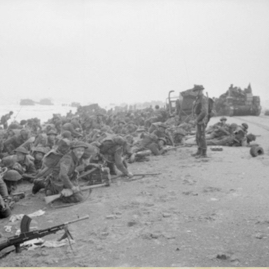 1st Special Service division waiting to move off Gold Beach.png