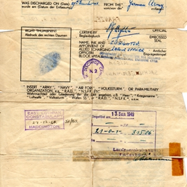 Rudi Franze PoW discharge papers .jpg
